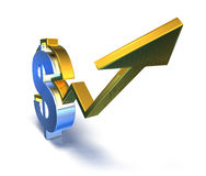 Dollar success Royalty Free Stock Images