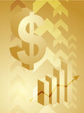Dollar success illustration. Abstract financial success illustration with dollar currency Royalty Free Stock Image