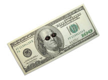 Dollar and sun-glasses Stock Image