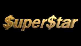 Dollar super star. Golden dollar super star isolated on black background Royalty Free Stock Photography