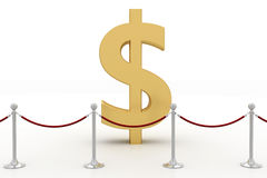 Dollar Surrounded By Vip Barrier Stock Photography