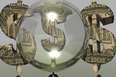 Dollar symbol. 3d computer generated Stock Images