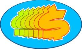 Dollar Symbol. Design Stock Illustration