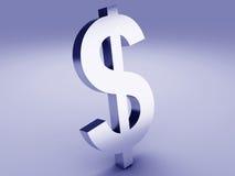 Dollar symbol. Image of dollar symbol. 3d illustration Royalty Free Stock Photo
