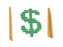 Dollar symbol in an abacus Royalty Free Stock Photography