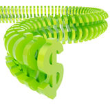 Dollar symbol arranged in line Royalty Free Stock Images