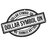 Dollar-Symbol auf Stempel Lizenzfreie Stockfotos