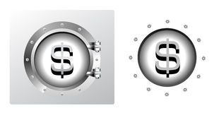Dollar symbol and banking safe Stock Images