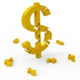 Dollar-Symbol bedeutet Dollars, Wohlstand, Einkommen stock abbildung
