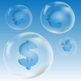 Dollar symbol in bubble Stock Photography