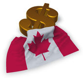 Dollar symbol and canada flag Stock Images