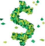 Dollar symbol confetty Royalty Free Stock Photo
