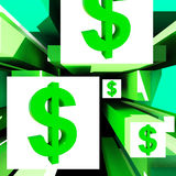 Dollar Symbol On Cubes American Earnings Royalty Free Stock Photography