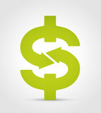 Dollar symbol. Currency financial concept Royalty Free Stock Photography