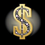 Dollar symbol in diamonds Stock Image