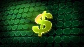 $ Dollar Symbol Glitter Sparkle Text stock video