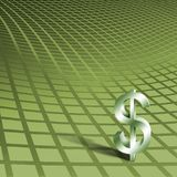 Dollar Symbol on Green Royalty Free Stock Image