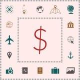 Dollar symbol icon royalty free illustration