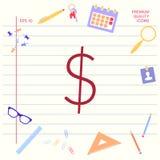Dollar symbol icon stock illustration