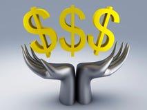 Dollar symbol. Image of dollar symbol. 3d illustration Royalty Free Stock Photography