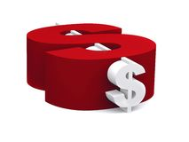 Dollar symbol isolated Stock Images
