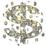 Dollar symbol jigsaw Stock Photography