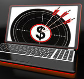 Dollar Symbol On Laptop Showing Investments Royalty Free Stock Photo