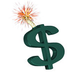 Dollar symbol that'll explode Royalty Free Stock Images