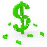 Dollar Symbol Means Currency Wealth And Banking Stock Image