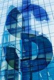 Dollar symbol on modern office. High-rise building stock photos