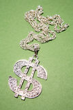 Dollar symbol necklace Royalty Free Stock Photography