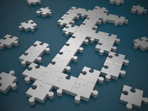 Dollar symbol puzzle. 3d high quality rendering Royalty Free Stock Photo