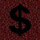 Dollar symbol on red hex code illustration. Dollar symbol on abstract shades of red hex code background illustration Stock Photography