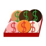 Dollar Symbol Snack Stock Images