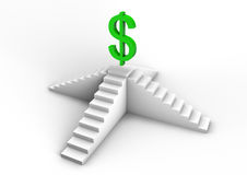 Dollar symbol on a staircase Stock Photo