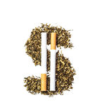 Dollar symbol of the tobacco Royalty Free Stock Image