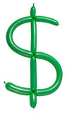 Dollar symbol of twisted balloon Stock Photo