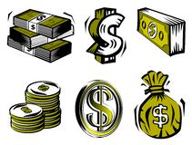 Dollar symbols Royalty Free Stock Images
