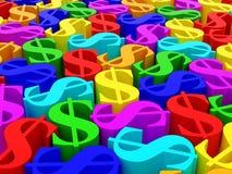 Dollar symbols Stock Image