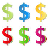 Dollar symbols Stock Photography