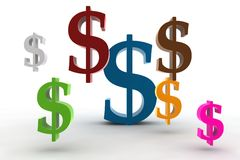 Dollar symbols Stock Images