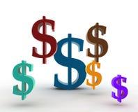 Dollar symbols Stock Photos