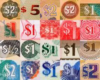 Dollar symbols from all over the world Stock Photo