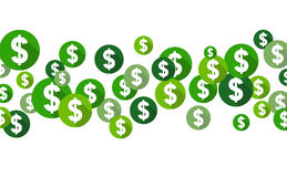 Dollar symbols, flat design style circles Stock Photography