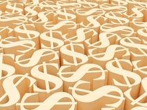 Dollar symbols Royalty Free Stock Photography