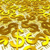 Dollar Symbols Over The Floor Shows American Investment Royalty Free Stock Images