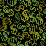 Dollar symbols seamless pattern, money theme Royalty Free Stock Photo