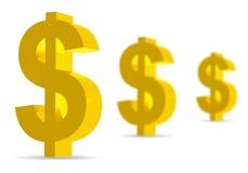 Dollar Symbols on white background Royalty Free Stock Photography