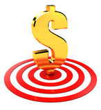 Dollar in target Royalty Free Stock Photography