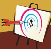 Dollar and target Royalty Free Stock Photo